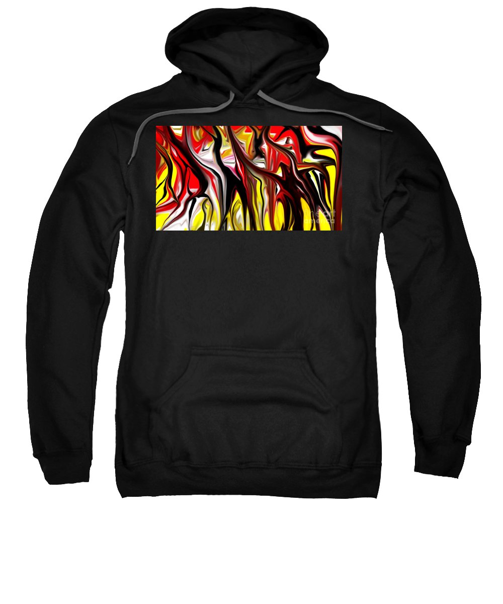 Abstract Sweatshirt featuring the digital art Dance Of The Sugar Plum Faries by David Lane