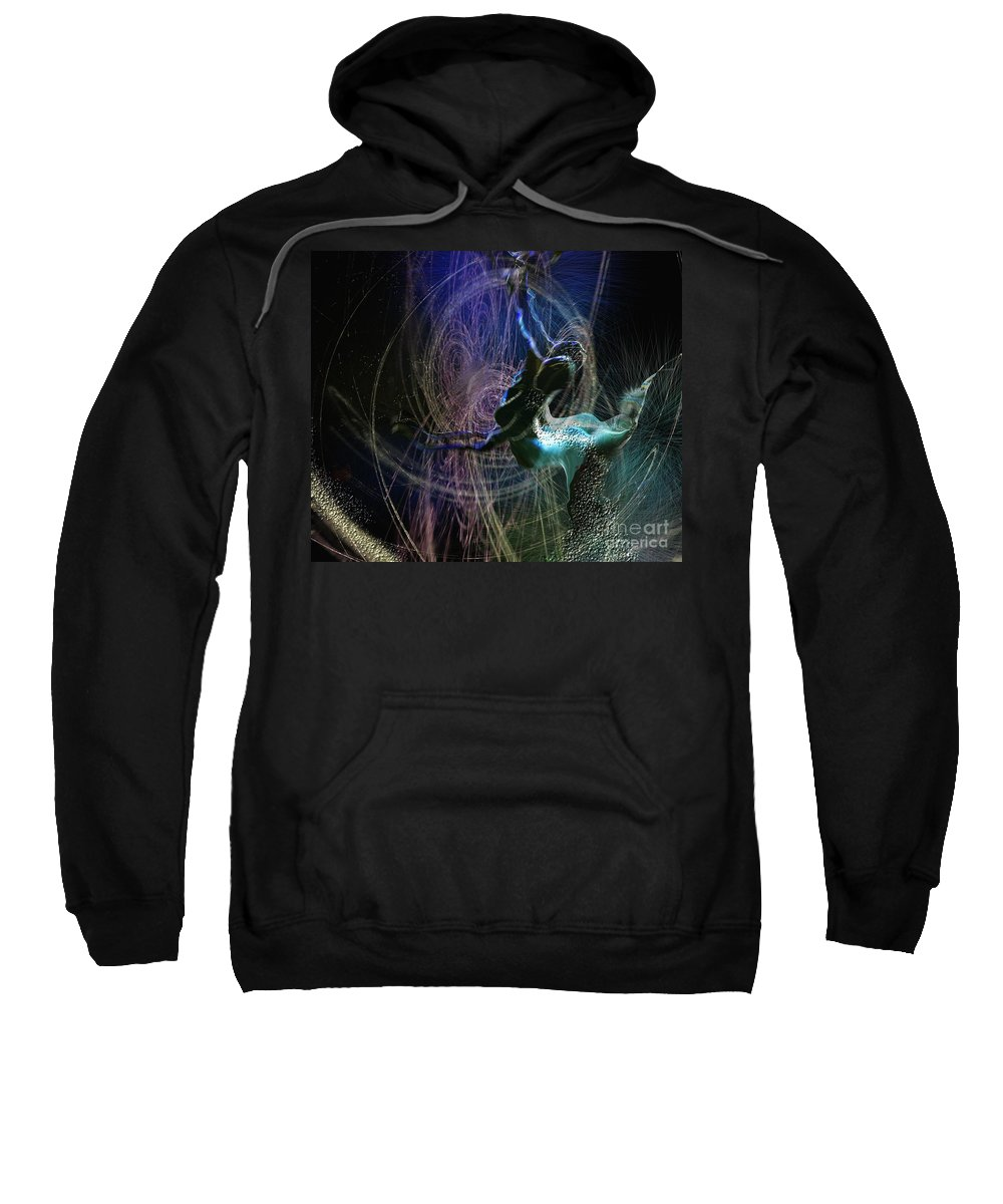 Nature Painting Sweatshirt featuring the painting Dance Of The Universe by Miki De Goodaboom