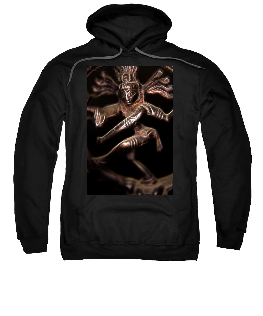 Ayurveda Sweatshirt featuring the photograph Dancing Shiva by Rich Leighton