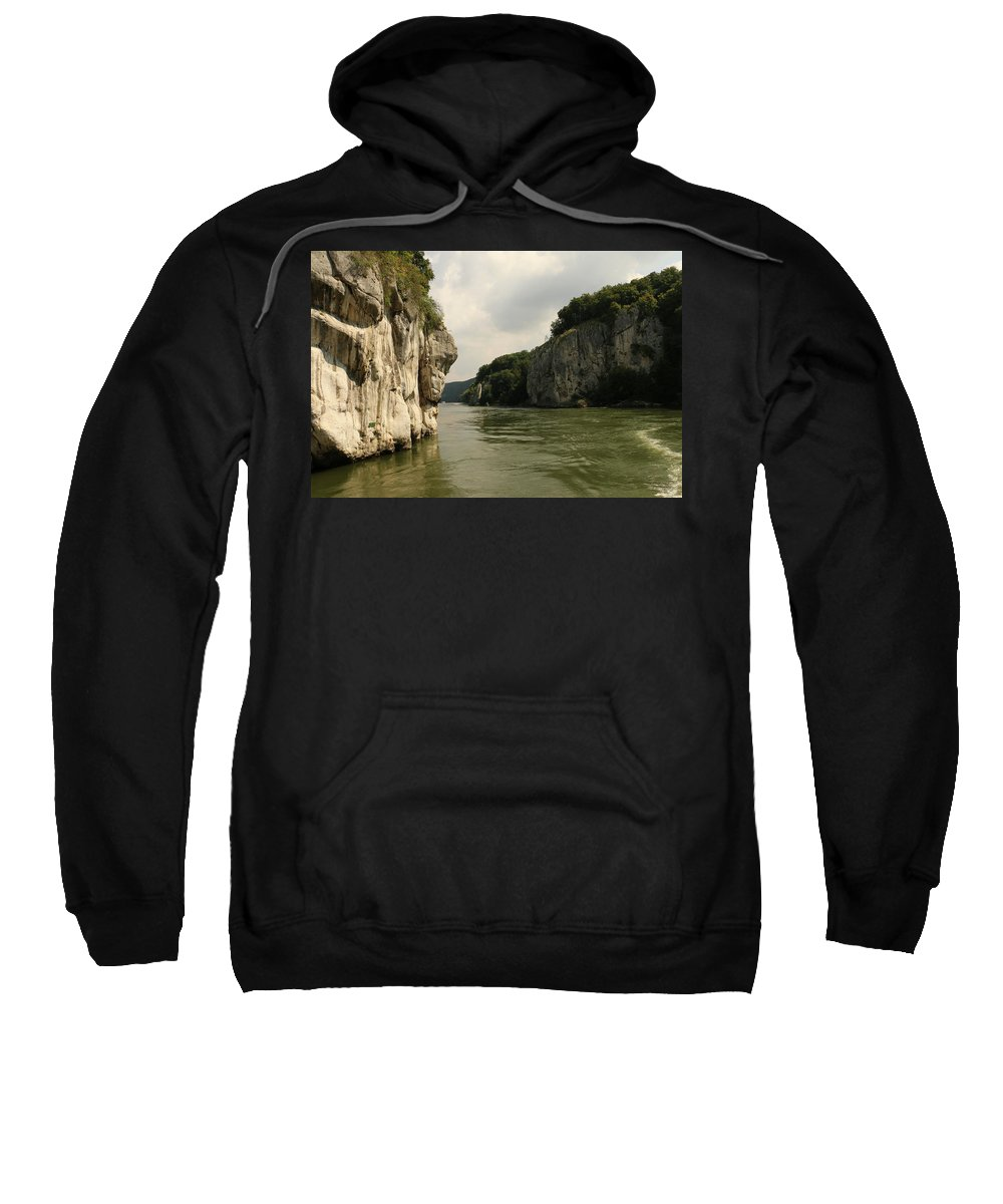River Sweatshirt featuring the photograph Danebu Gorge by Christiane Schulze Art And Photography