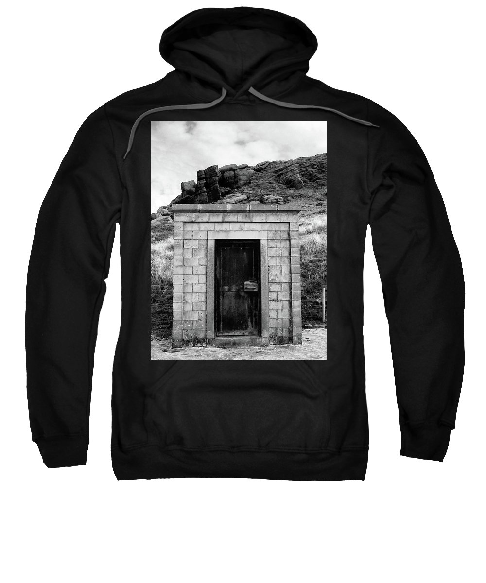 Square Sweatshirt featuring the photograph Dark Entry by Philip Openshaw