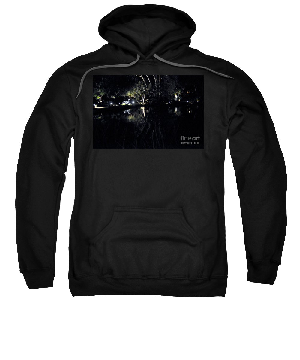 Clay Sweatshirt featuring the photograph Dark Reflections by Clayton Bruster