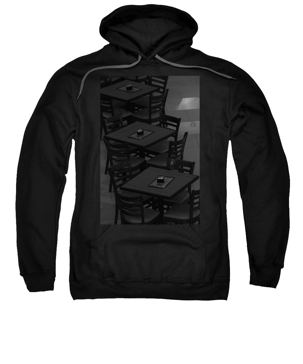 Tables Sweatshirt featuring the photograph Dark Tables by Rob Hans