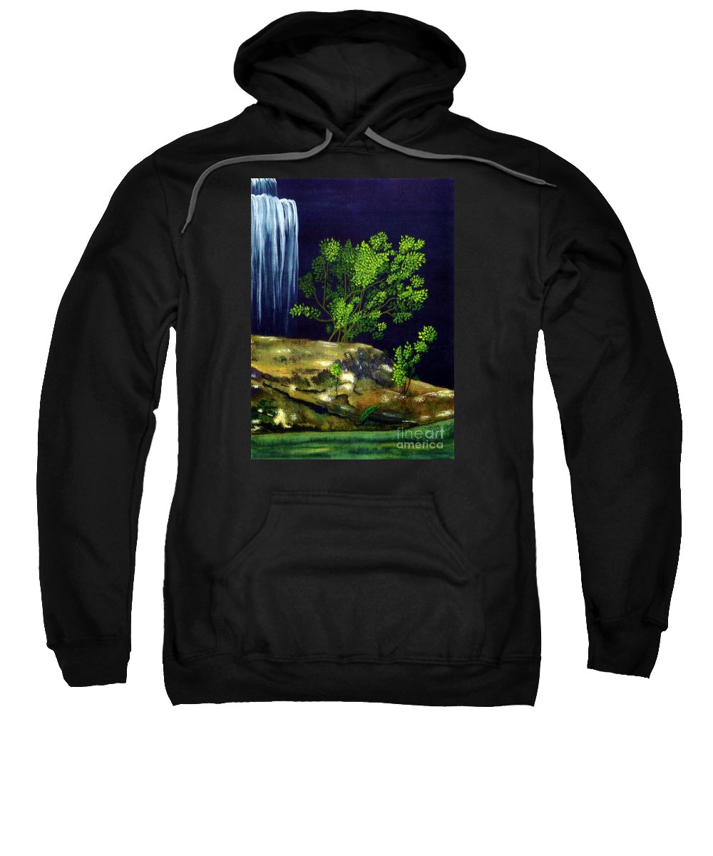 Fine Art Sweatshirt featuring the painting Dark Waters by Patricia Griffin Brett