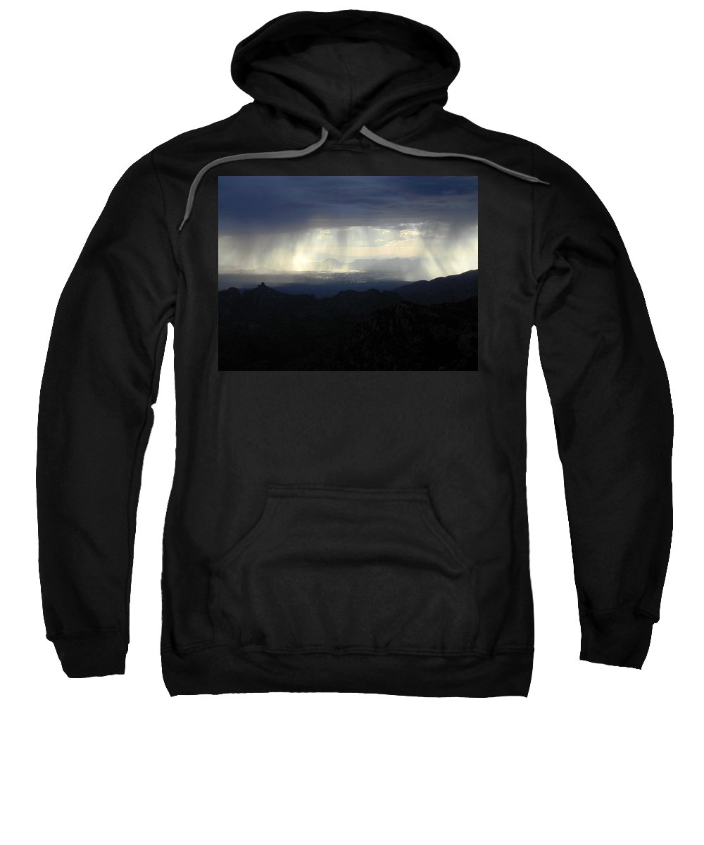 Darkness Sweatshirt featuring the photograph Darkness Over The City by Douglas Barnett