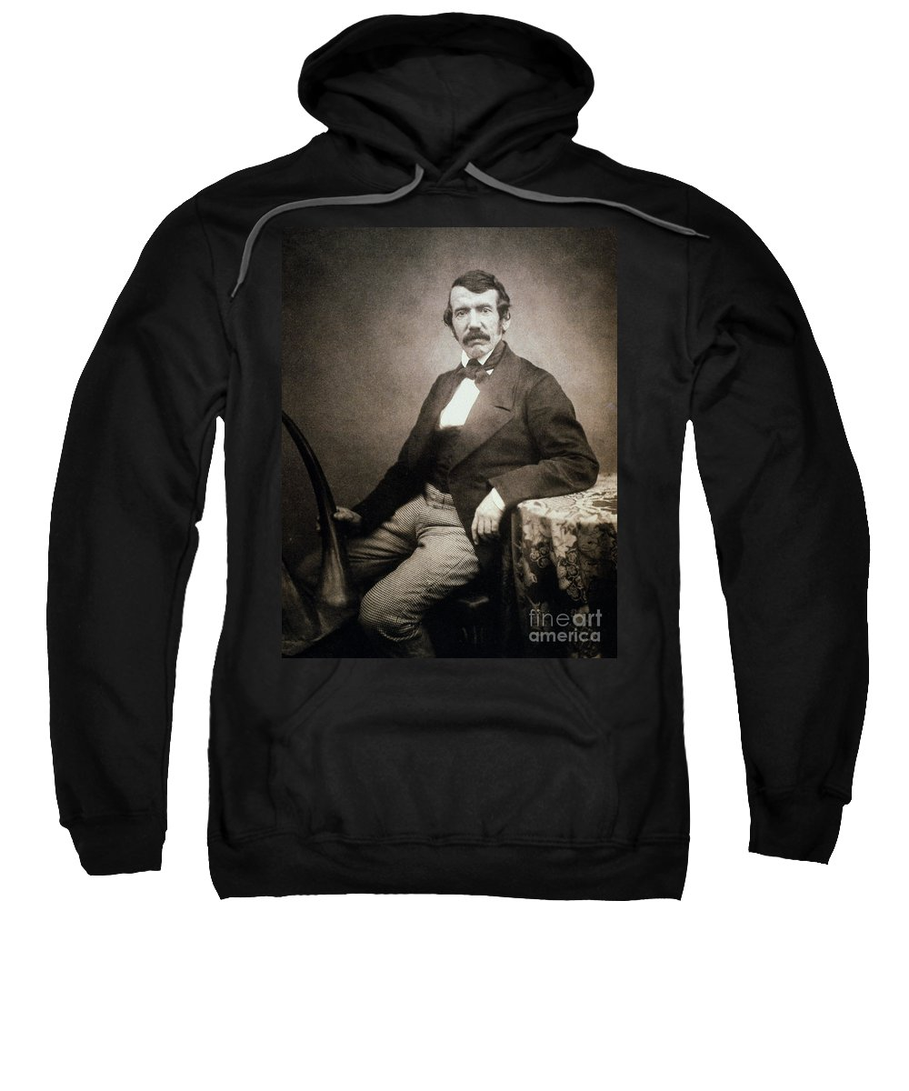 1864 Sweatshirt featuring the painting David Livingstone (1813-1873) by Granger