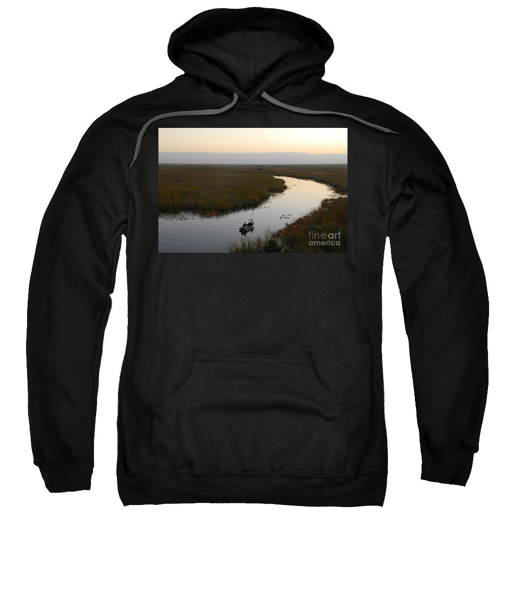 Fishing Sweatshirt featuring the photograph Dawn Everglades Florida by David Lee Thompson