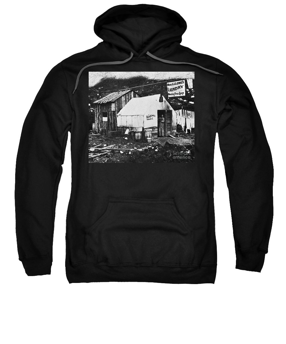 1900 Sweatshirt featuring the photograph Dawson City, C1900 by Granger