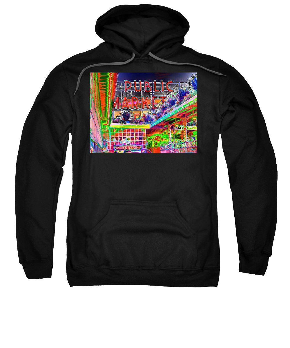Seattle Sweatshirt featuring the photograph Day At The Market by Tim Allen