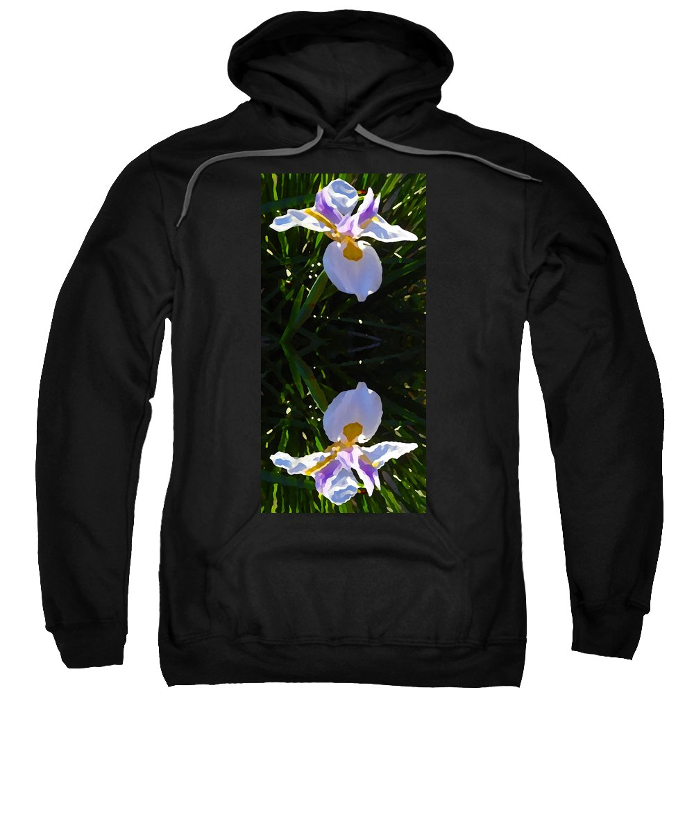 Daylily Sweatshirt featuring the painting Day Lily Reflection by Amy Vangsgard