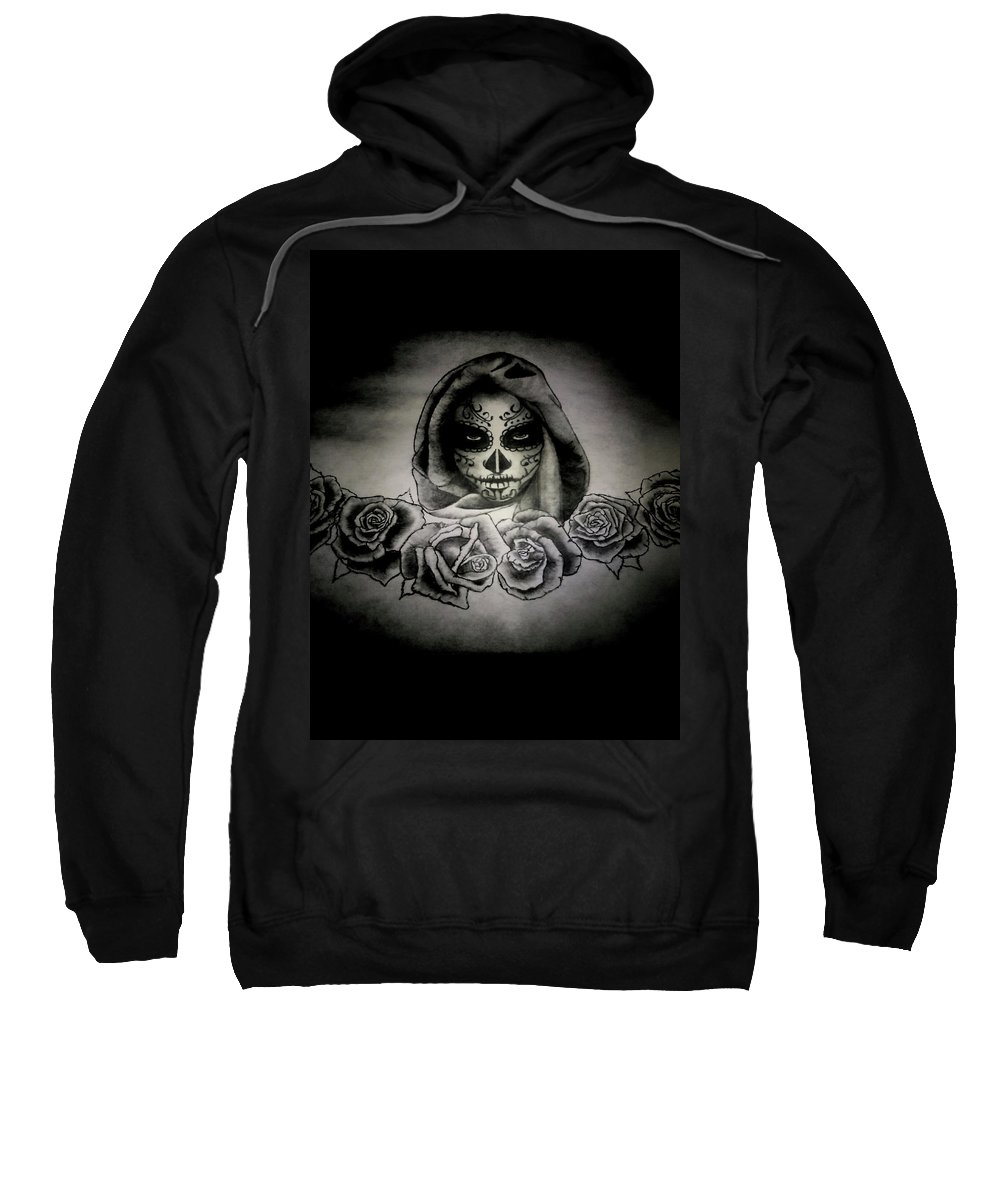 Day Sweatshirt featuring the painting Day Of The Dead by Alexander Dumas