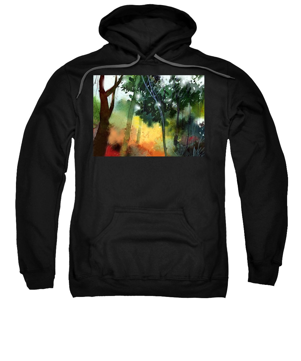 Water Color Sweatshirt featuring the painting Daybreak by Anil Nene