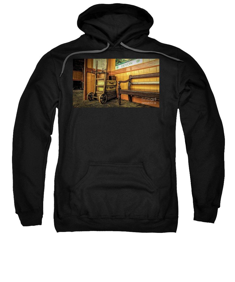 Luggage Sweatshirt featuring the photograph Days Away by Catchavista