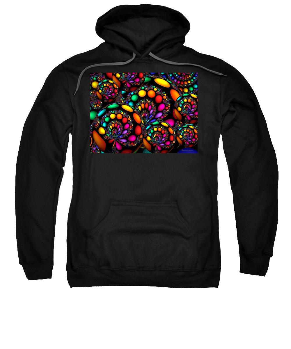 Crazy Sweatshirt featuring the digital art Days Gone By by Robert Orinski