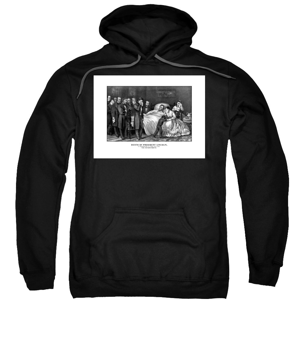 Abraham Lincoln Sweatshirt featuring the drawing Death Of President Lincoln by War Is Hell Store