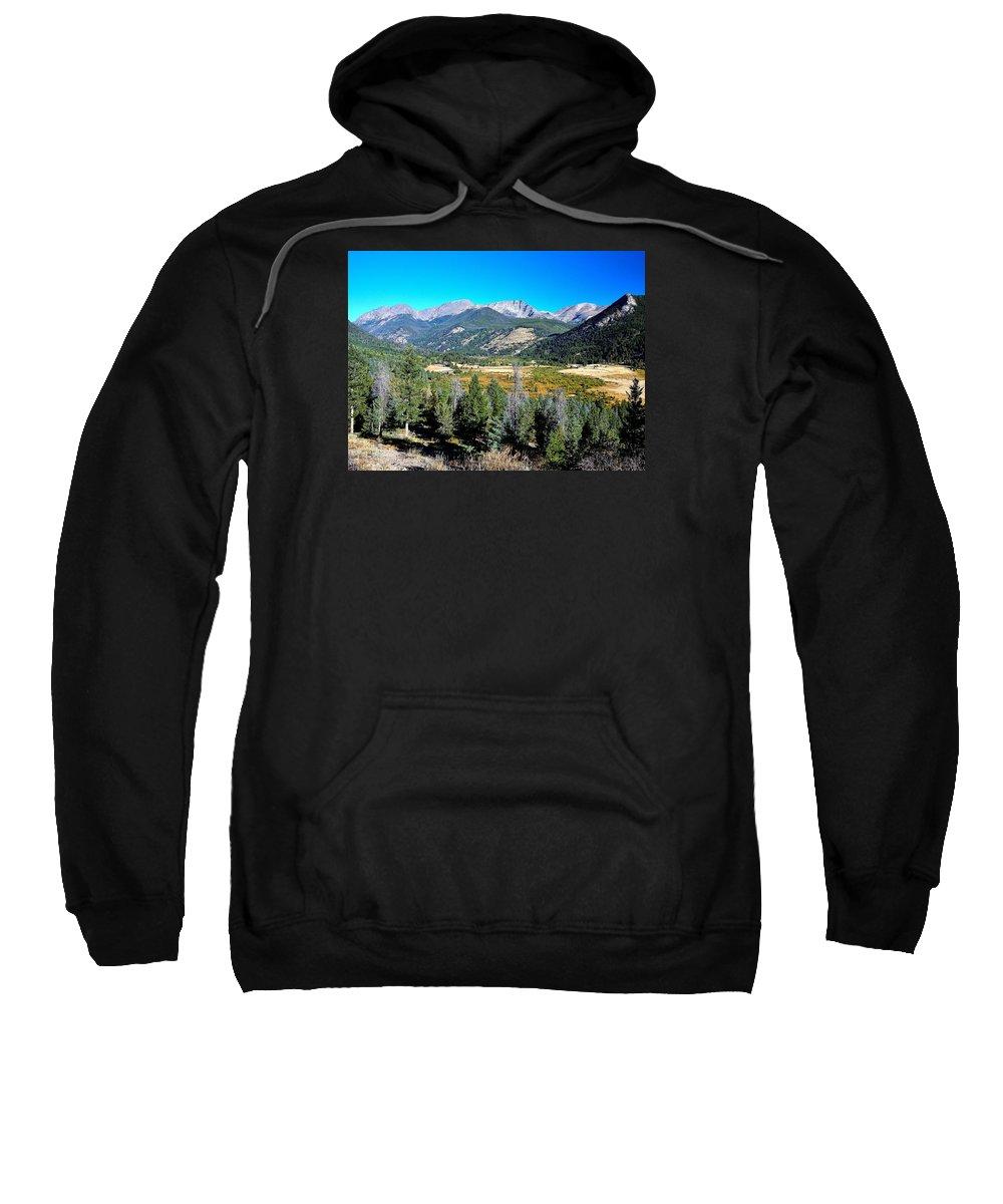 Rockies Sweatshirt featuring the photograph Deep Vista by John Robert Galuppo