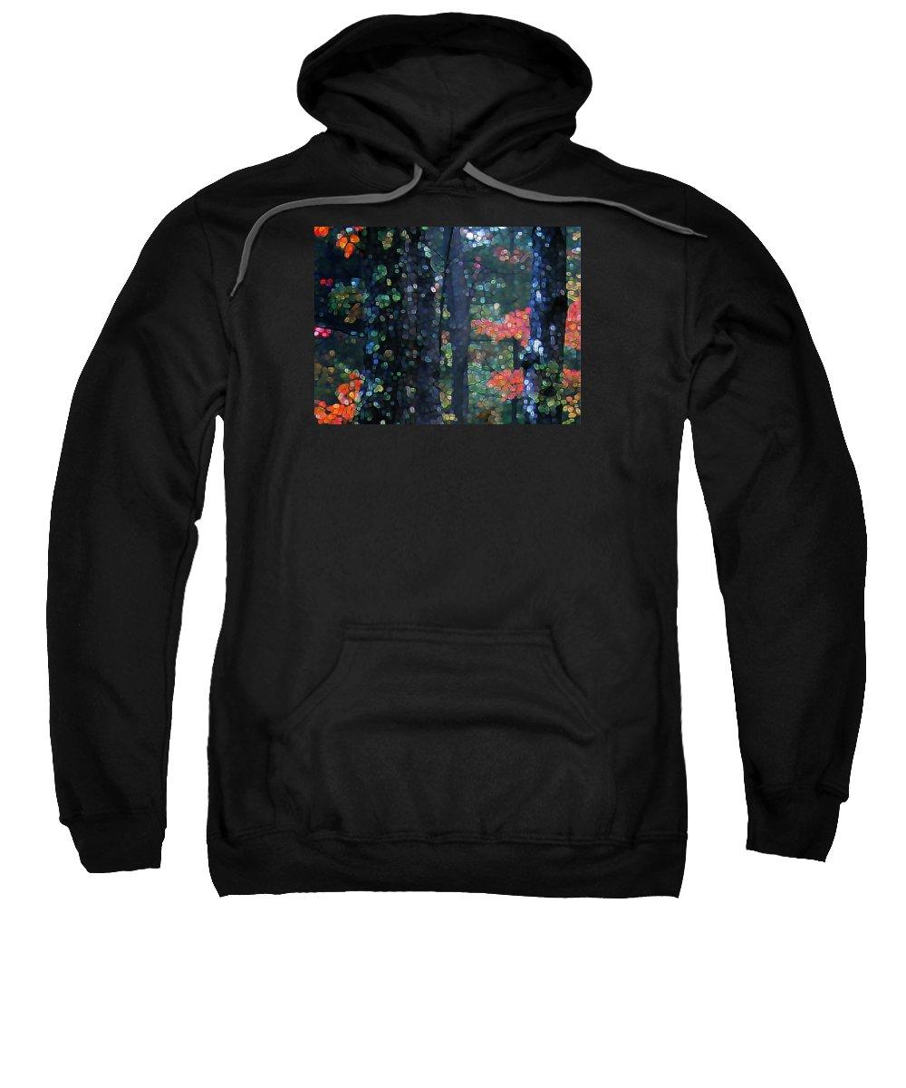 Landscape Sweatshirt featuring the digital art Deep Woods Mystery by Dave Martsolf