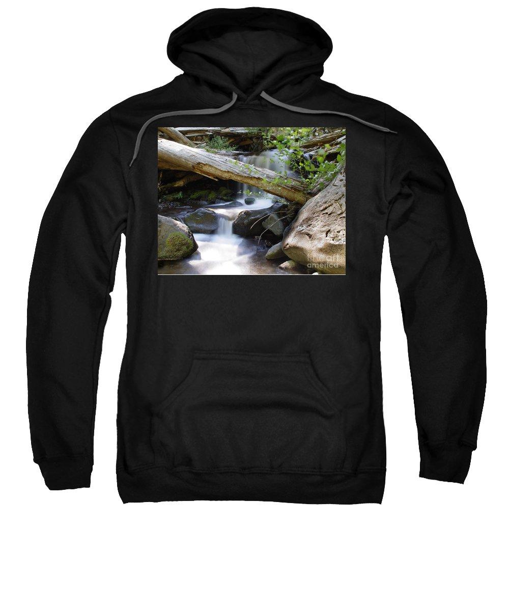 Creek Sweatshirt featuring the photograph Deer Creek 03 by Peter Piatt