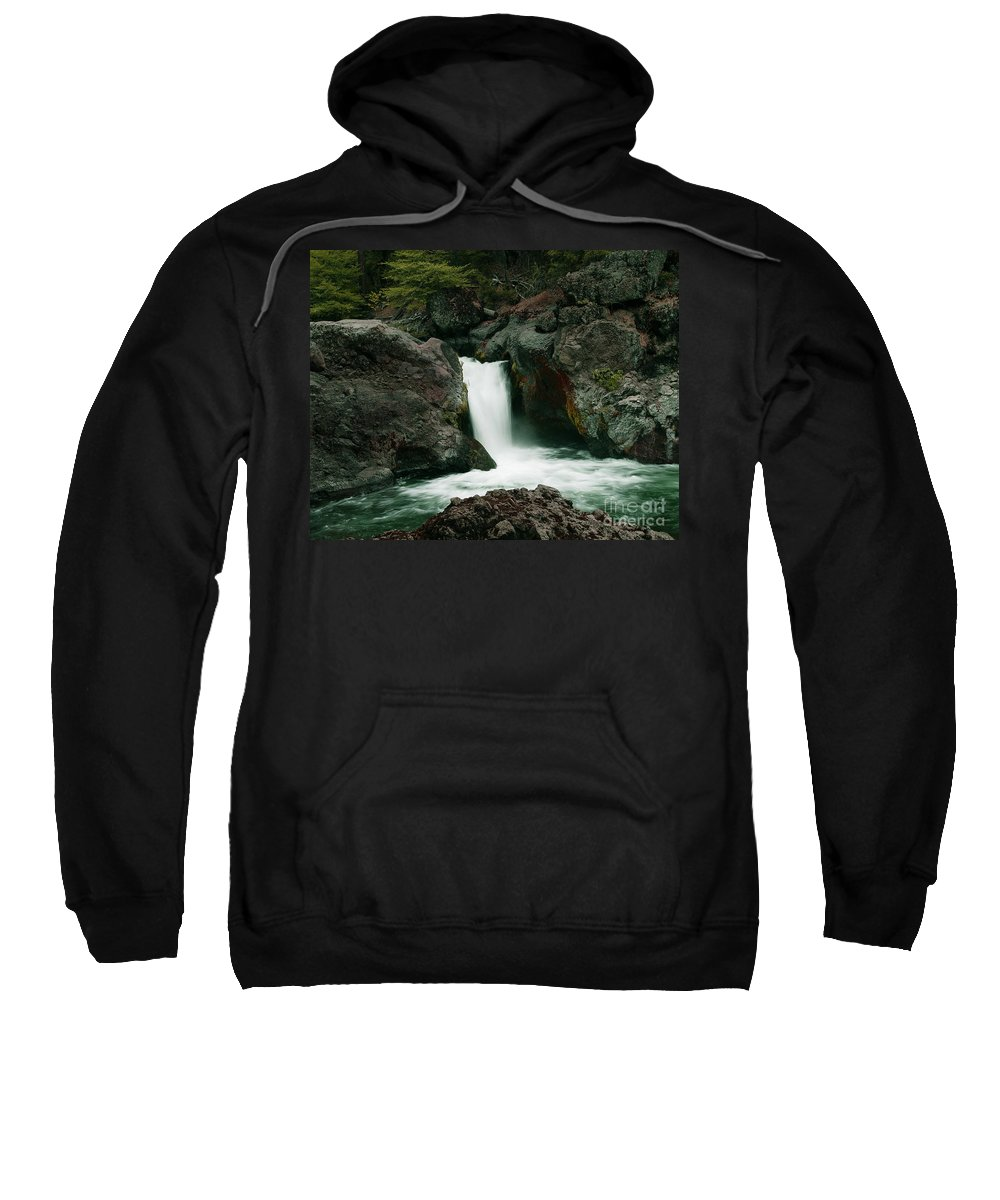 Creek Sweatshirt featuring the photograph Deer Creek Falls by Peter Piatt