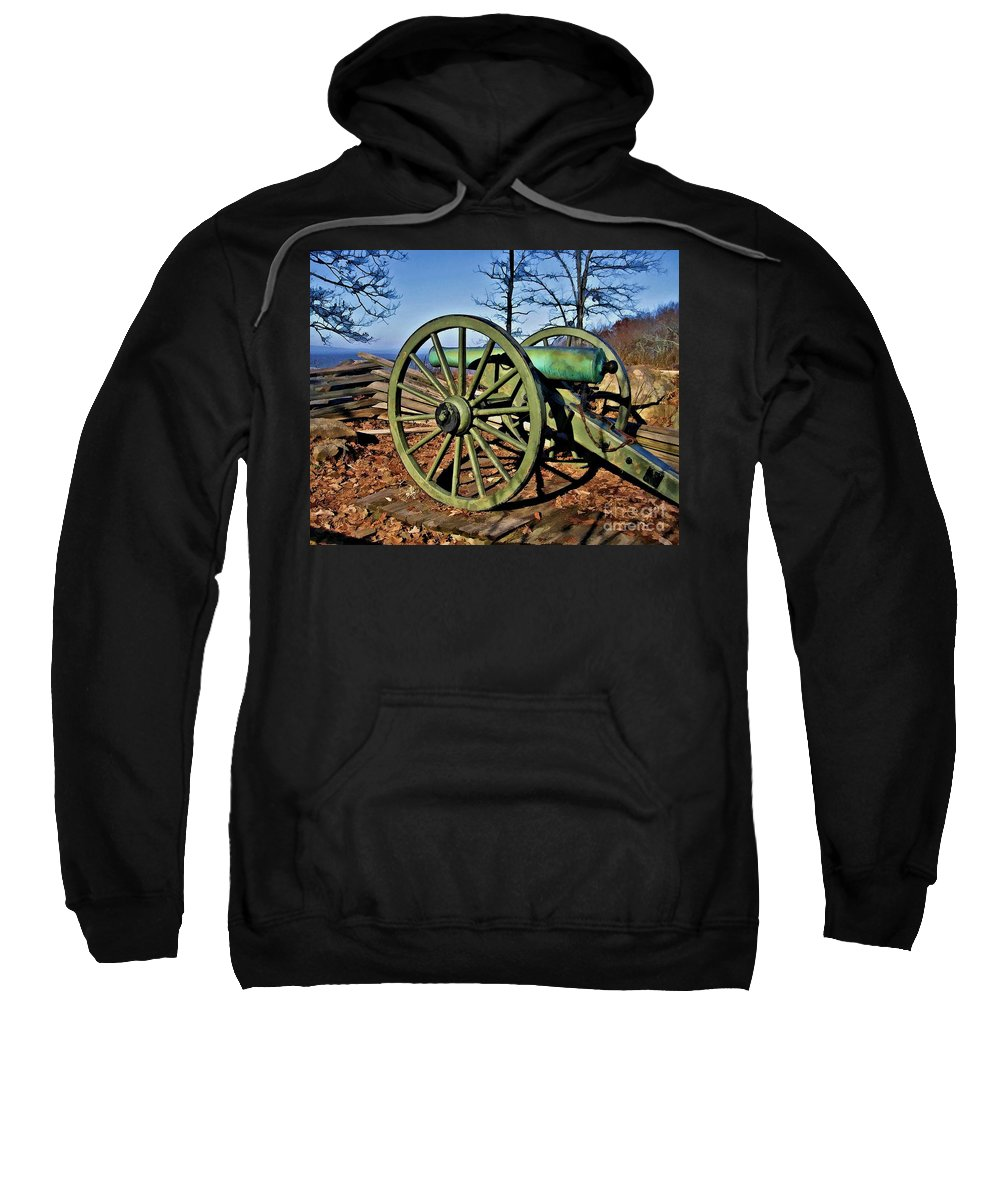 Kenshaw Mountain Sweatshirt featuring the digital art Defense Of Atlanta by Tommy Anderson