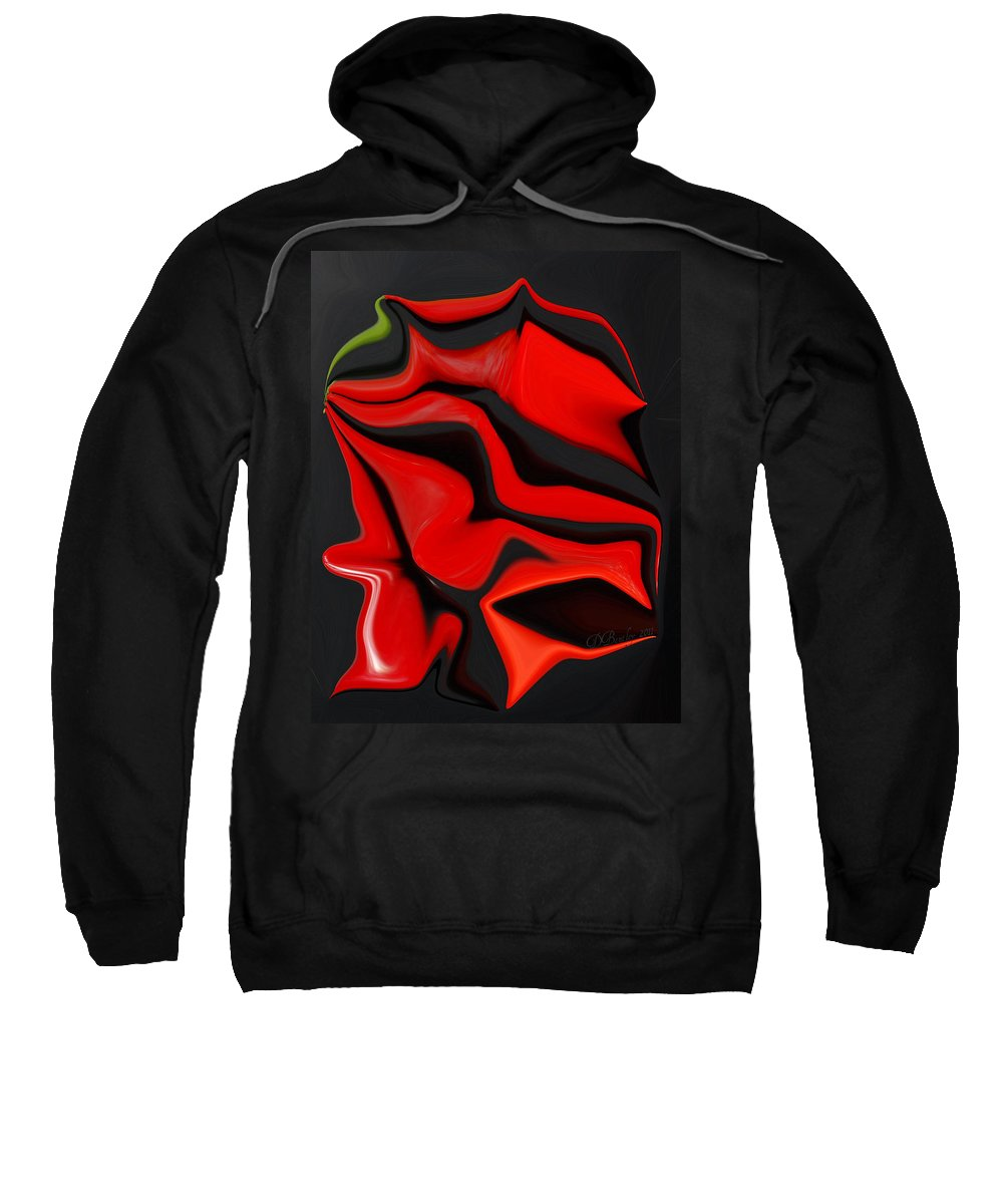 Peppers Sweatshirt featuring the photograph Deformed Peppers by Donna Bentley