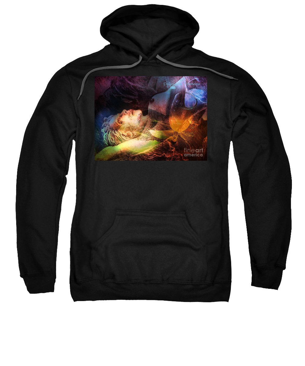 Fantasy Sweatshirt featuring the painting Delirium Tremens by Miki De Goodaboom