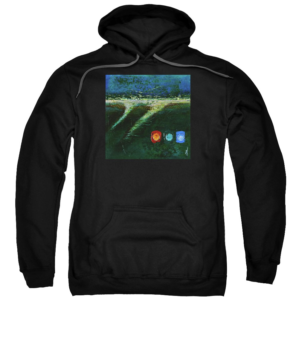 Painting Sweatshirt featuring the painting Delta by Jean-luc Lacroix