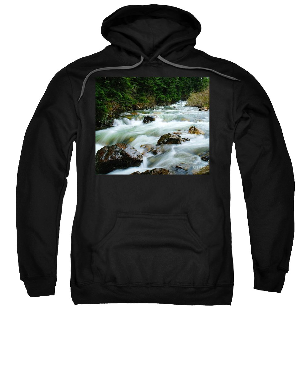 Rivers Sweatshirt featuring the photograph Denny Creek by Jeff Swan