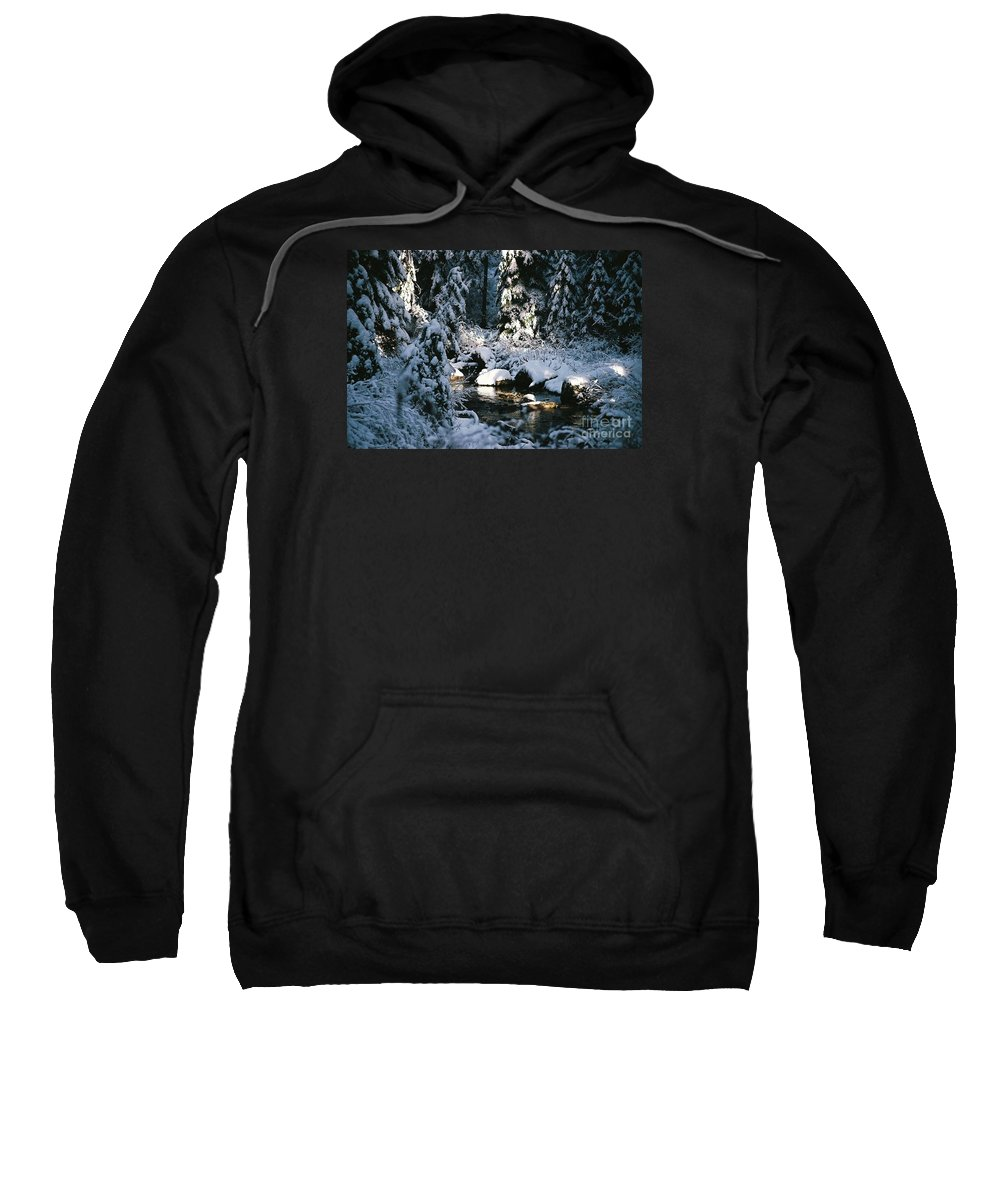 Landscape Sweatshirt featuring the photograph Denny Creek by John Huntsman