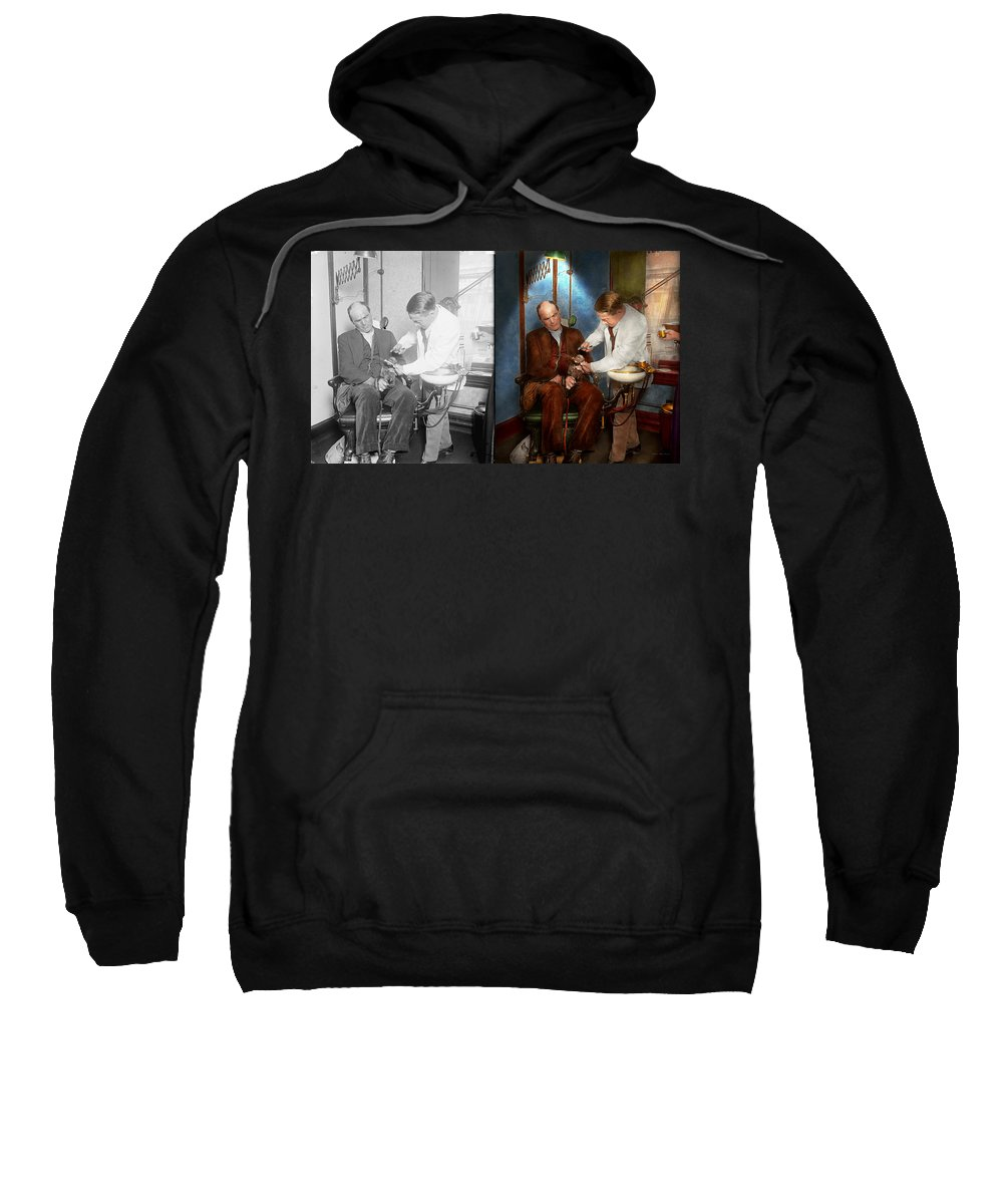 Dentist Sweatshirt featuring the photograph Dentist - Monkey Business 1924 - Side By Side by Mike Savad