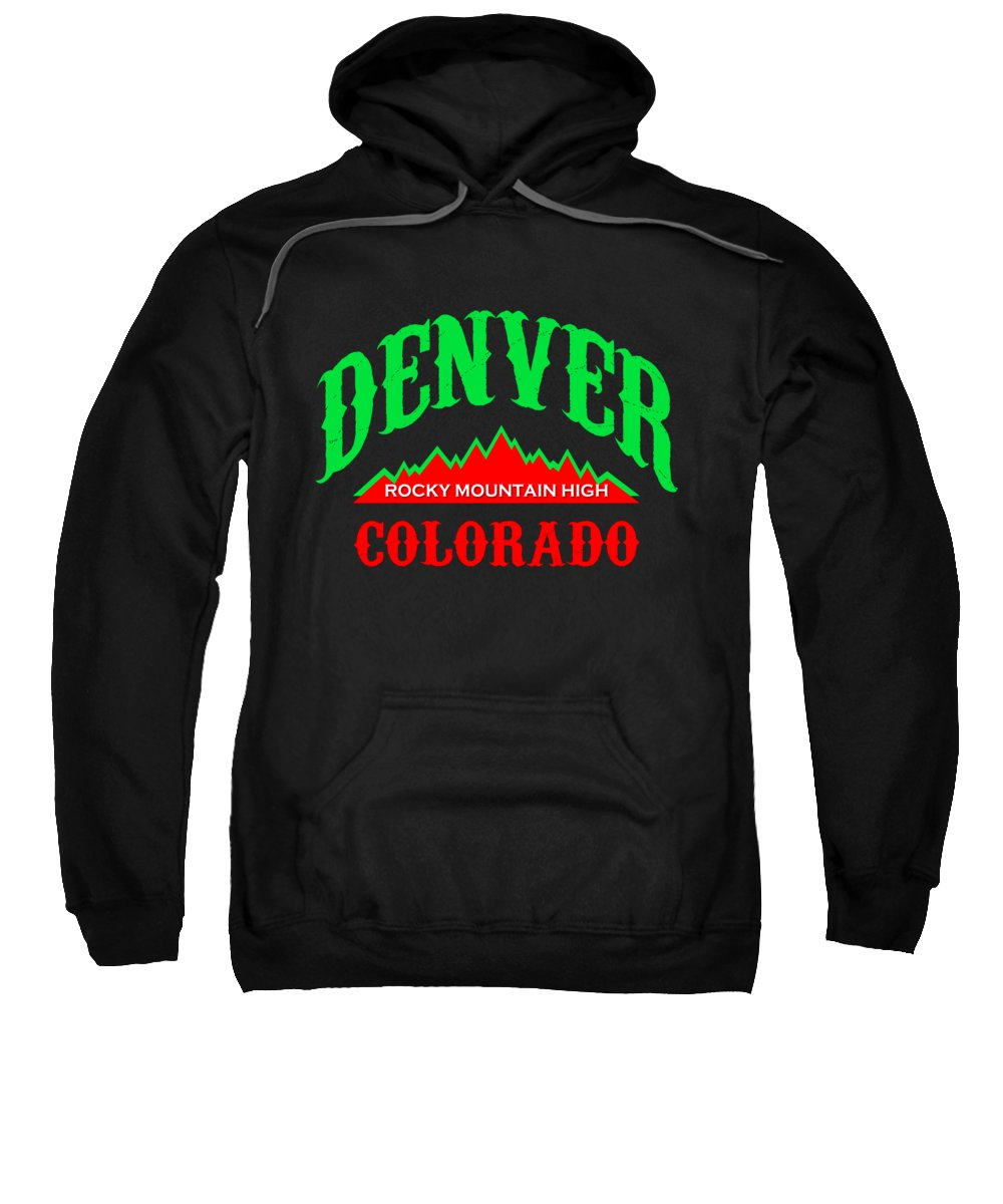 Rocky Mountains Mixed Media Hooded Sweatshirts T-Shirts