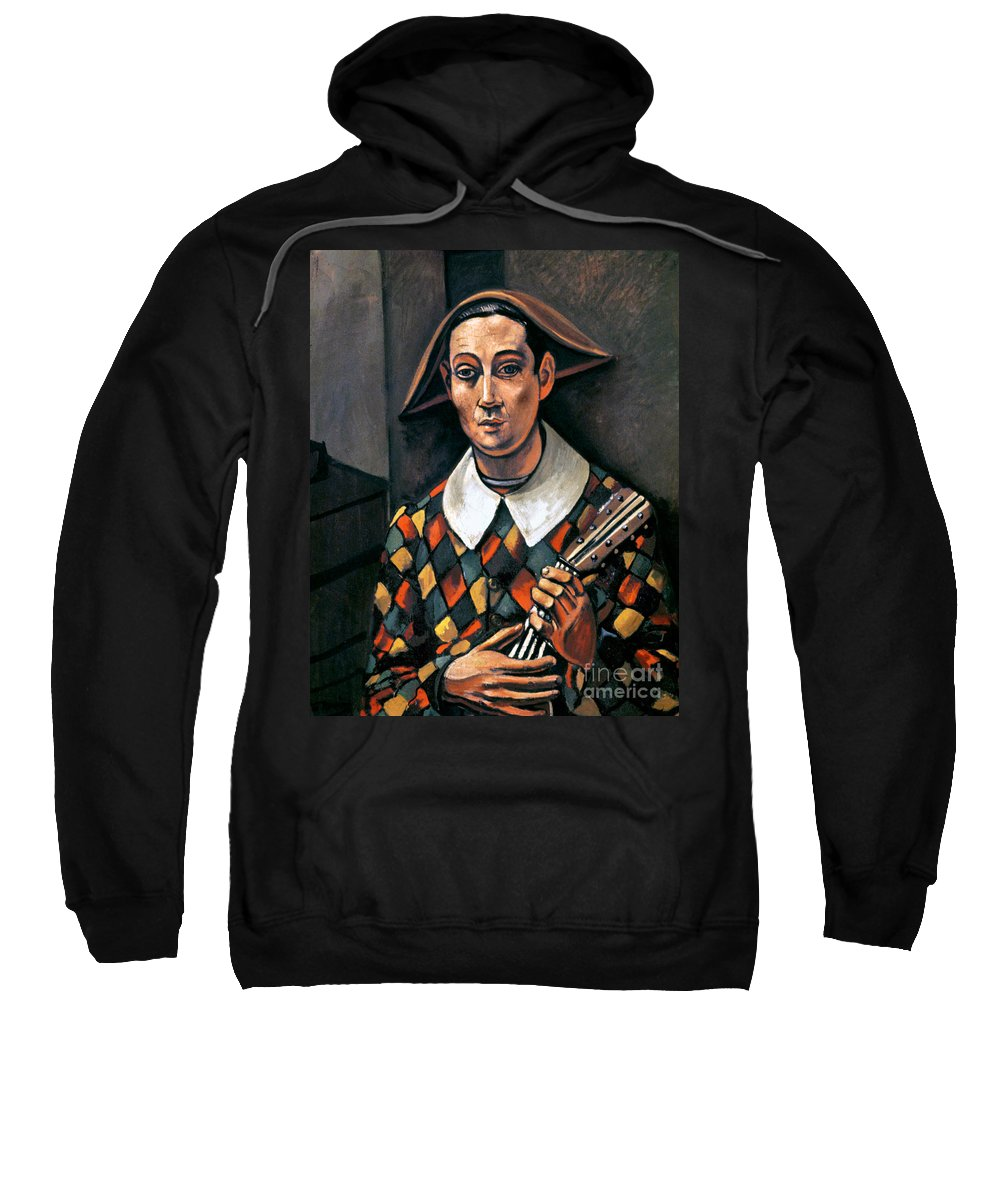 1919 Sweatshirt featuring the photograph Derain: Harlequin, 1919 by Granger