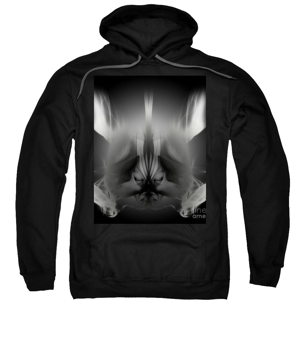Clay Sweatshirt featuring the digital art Descent by Clayton Bruster