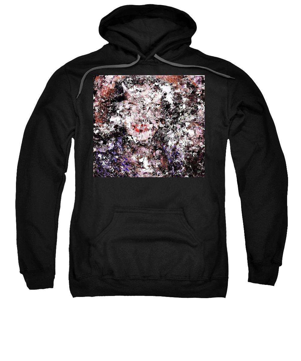 Art Abstrait Sweatshirt featuring the digital art Destiny Broken by Lawrence O'Toole