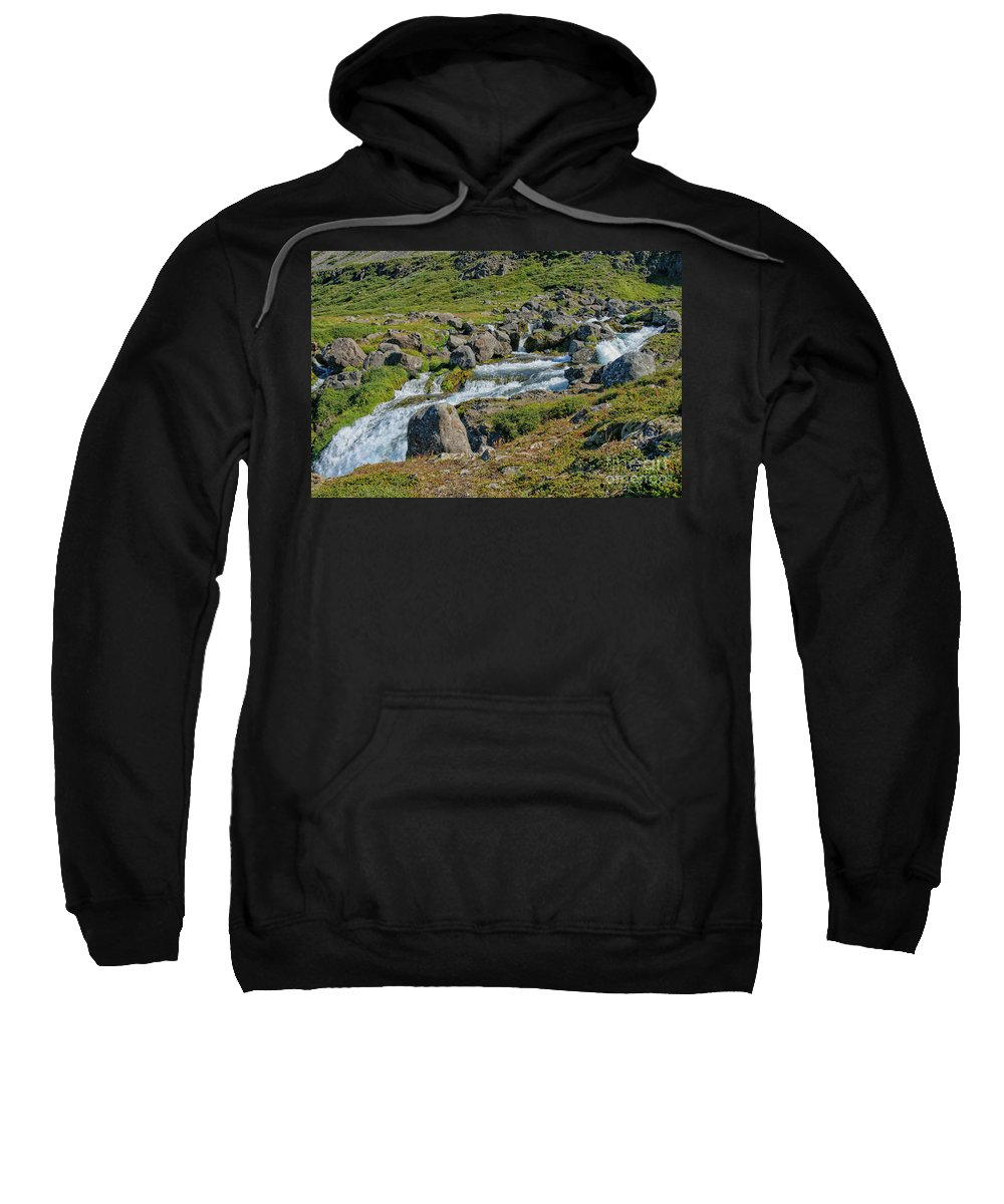 Canyon Sweatshirt featuring the photograph Detail Of Dynjandi Waterfall by Patricia Hofmeester