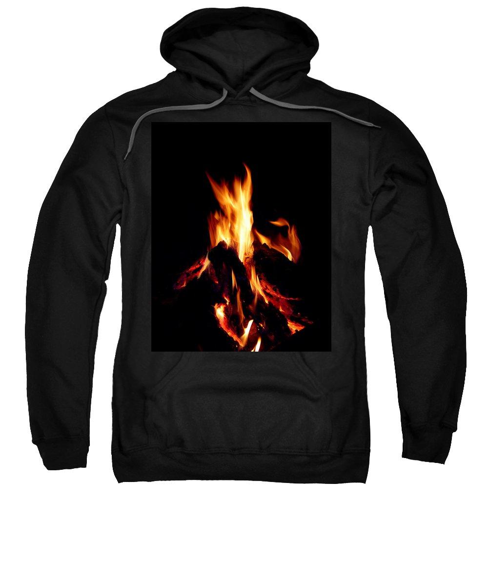 Devil Sweatshirt featuring the photograph Devil Fire by Peter Piatt