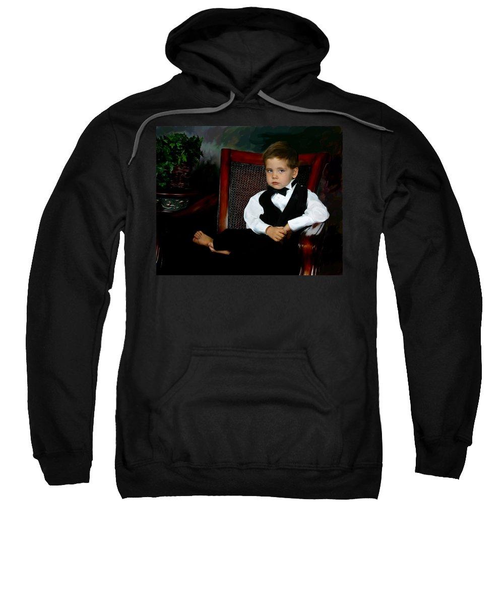 Painting Sweatshirt featuring the digital art Digital Art Painting Of My Son by Anthony Jones