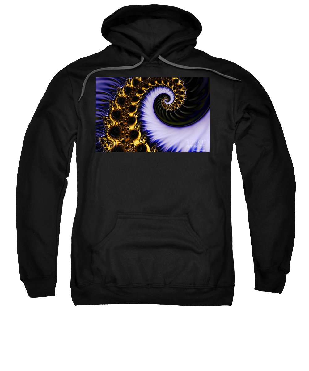 Clay Sweatshirt featuring the digital art Digital Wave by Clayton Bruster