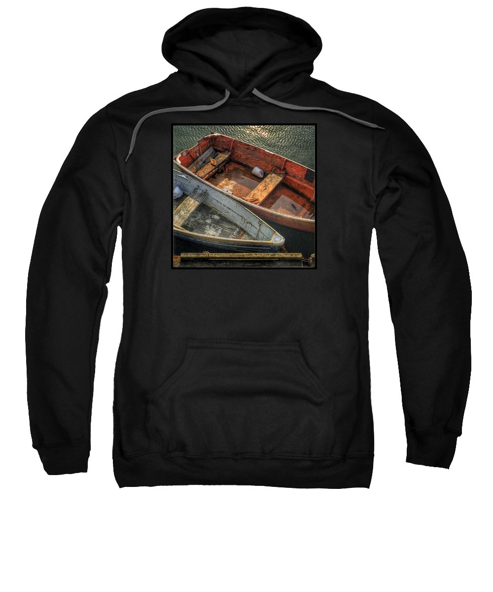 Dinghy Sweatshirt featuring the photograph Dinghies At Rockport by David Stone