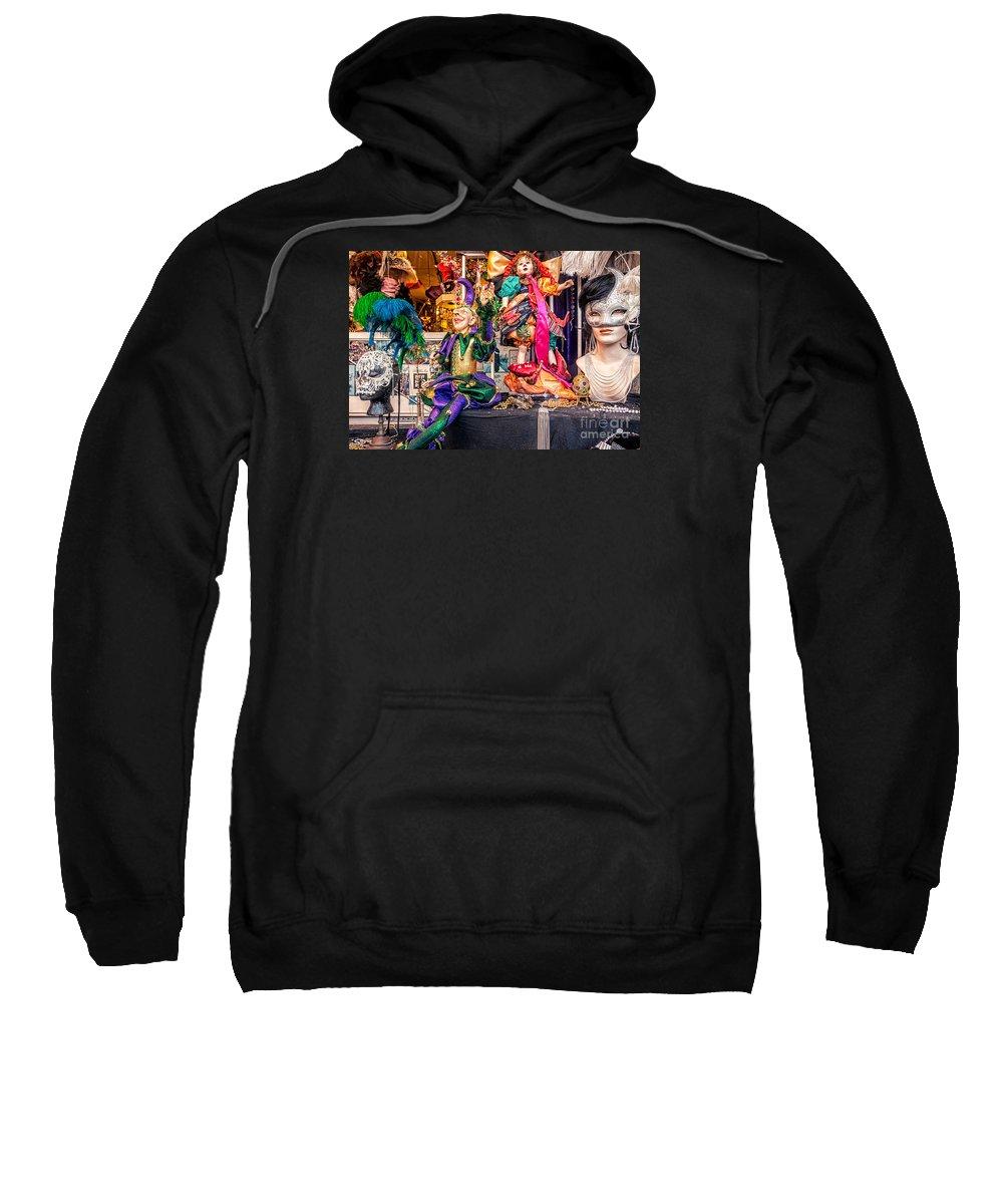 Mardi Gras Sweatshirt featuring the photograph Display Window -mardi Gras Nola by Kathleen K Parker