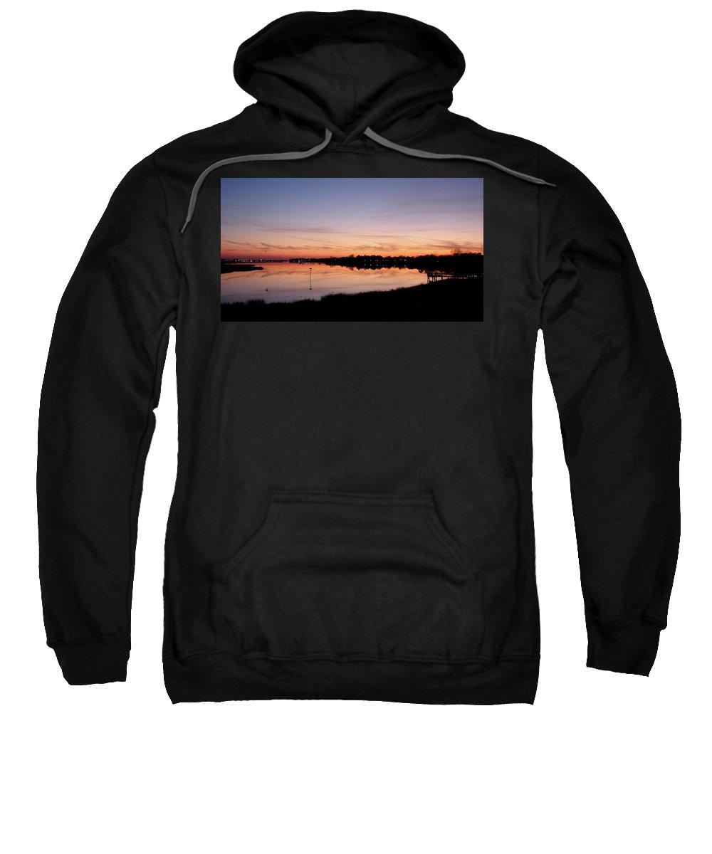 Distant Sweatshirt featuring the photograph Distant Lights by Brett Winn