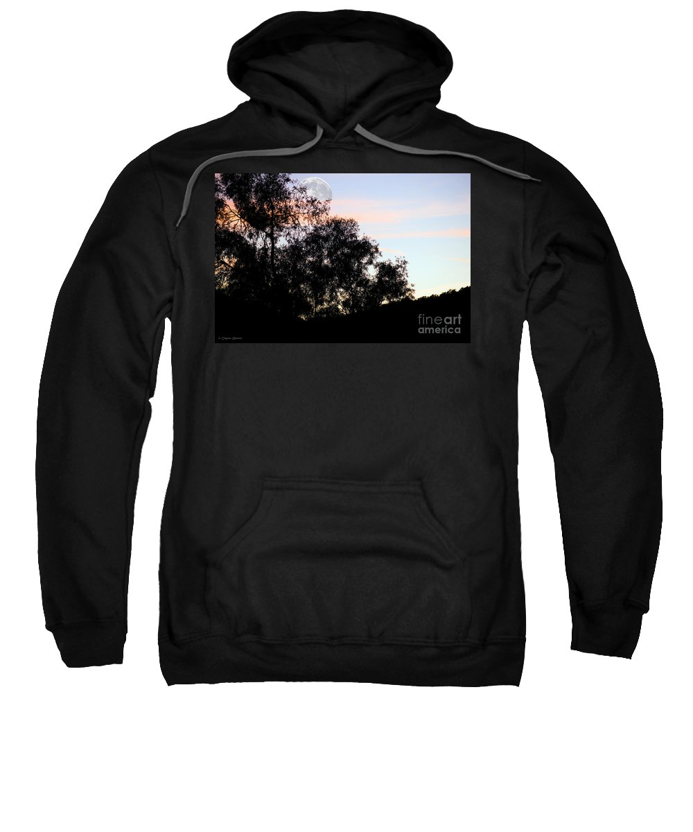 Clay Sweatshirt featuring the photograph Distant Moon by Clayton Bruster