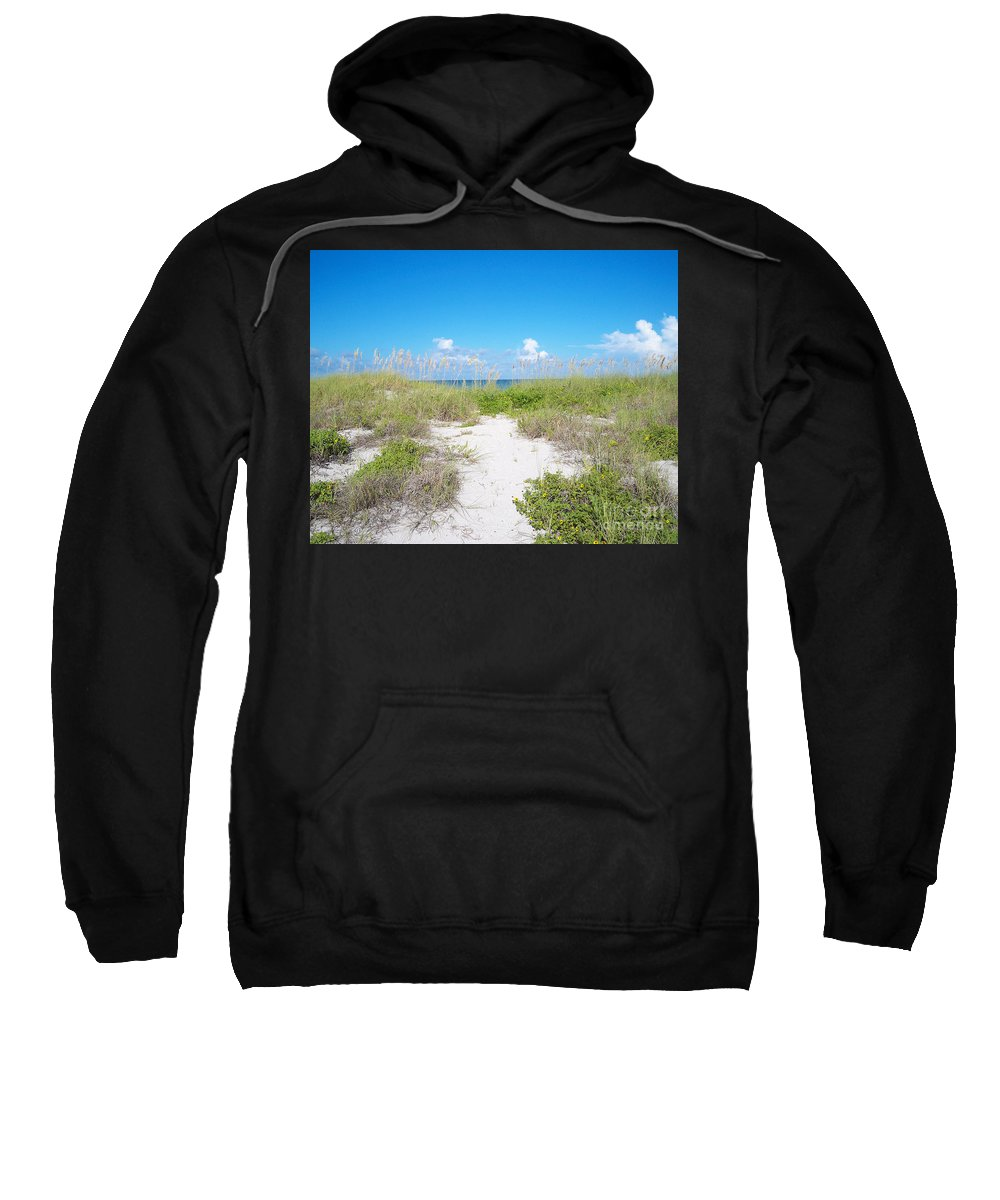 Florida Sweatshirt featuring the photograph Distant Sea by Chris Andruskiewicz