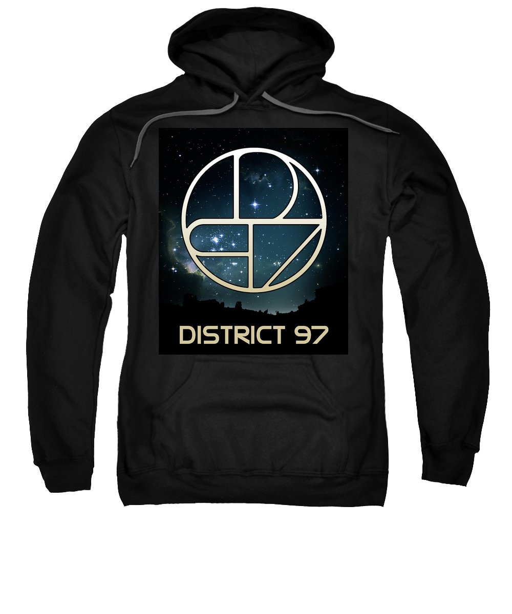 Sweatshirt featuring the digital art District 97 Logo by District 97