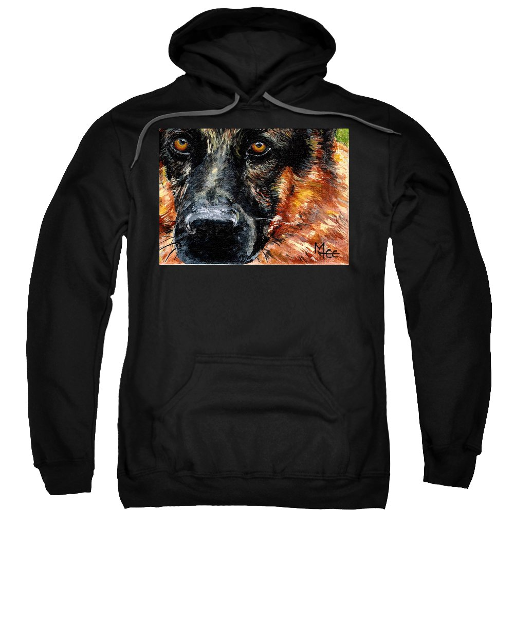 Charity Sweatshirt featuring the painting Dixie by Mary-Lee Sanders