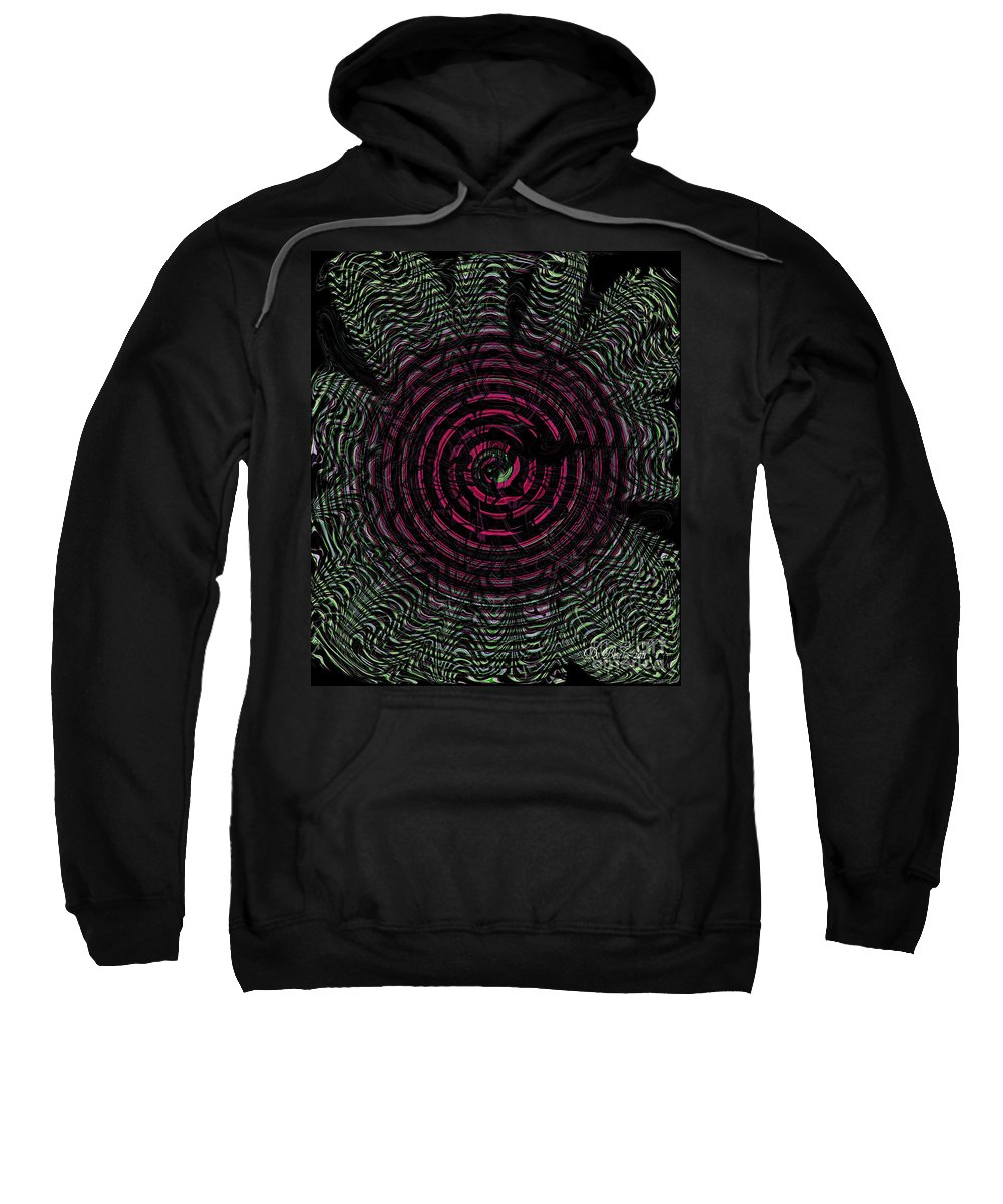 Abstract Art Sweatshirt featuring the photograph Dizzy Wheel by Donna Bentley