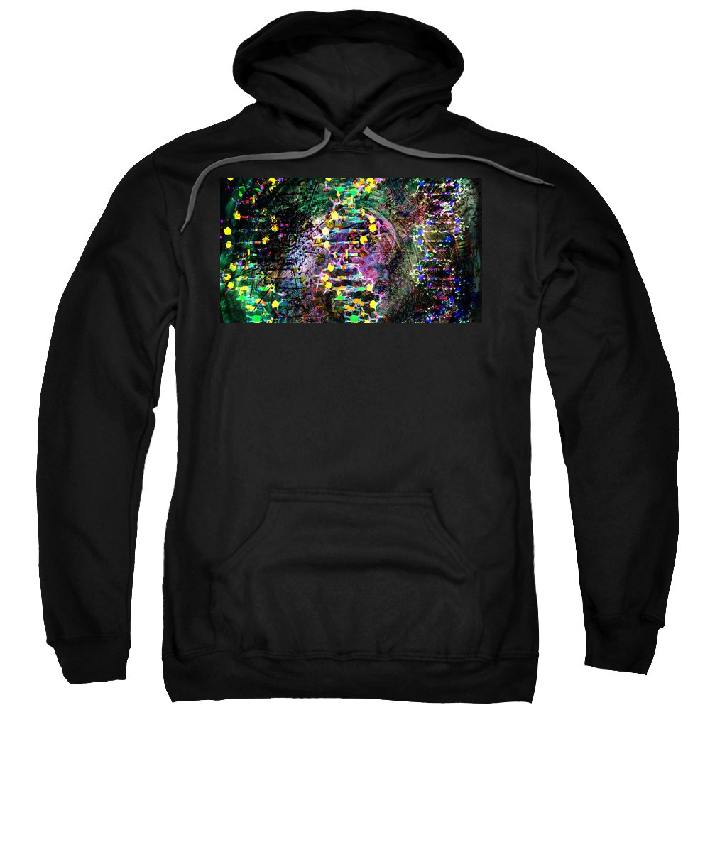 Abstract Sweatshirt featuring the digital art Dna Dreaming 7 by Russell Kightley
