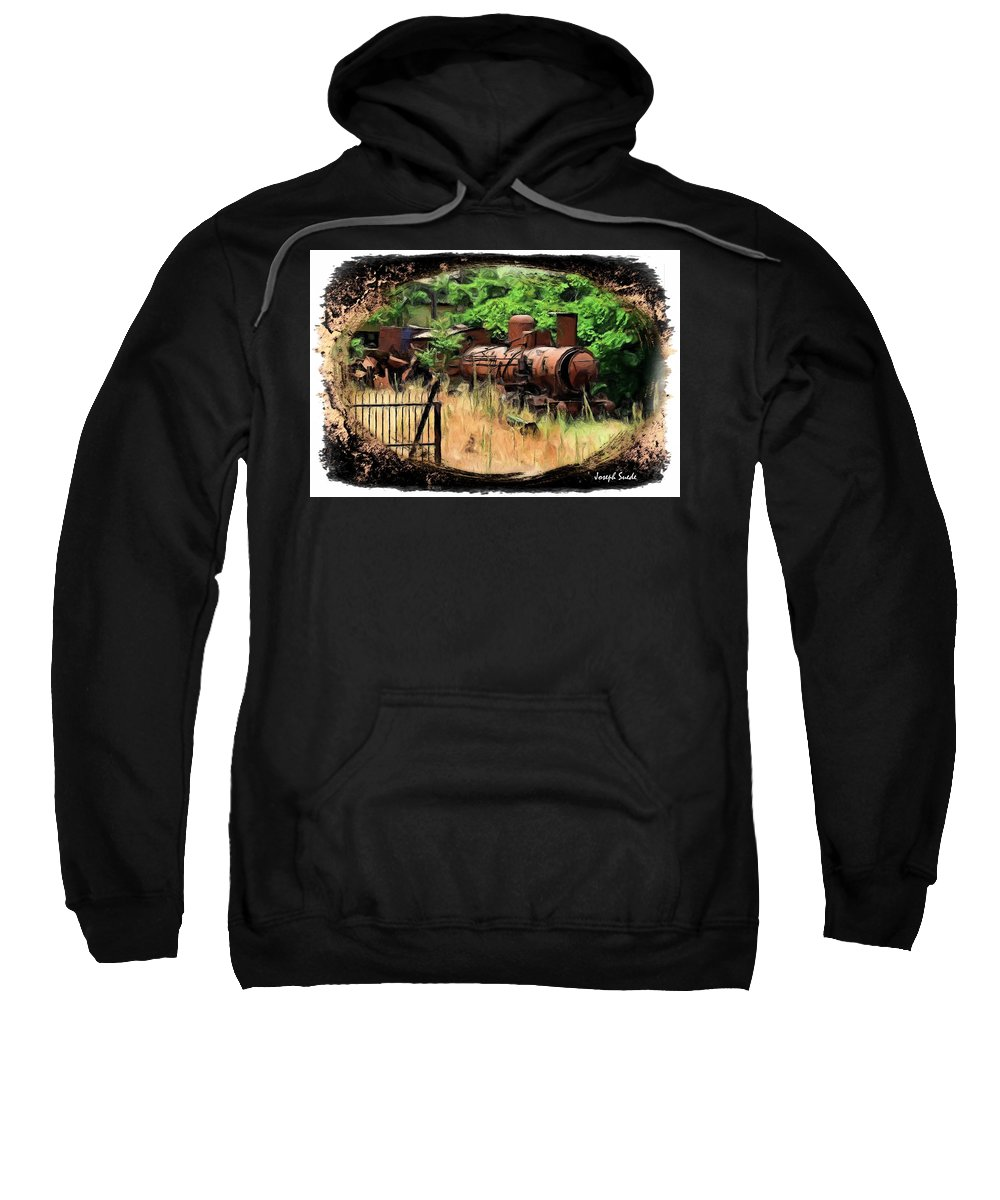 Train Sweatshirt featuring the photograph Do-00411 Old Train In Ryak by Digital Oil