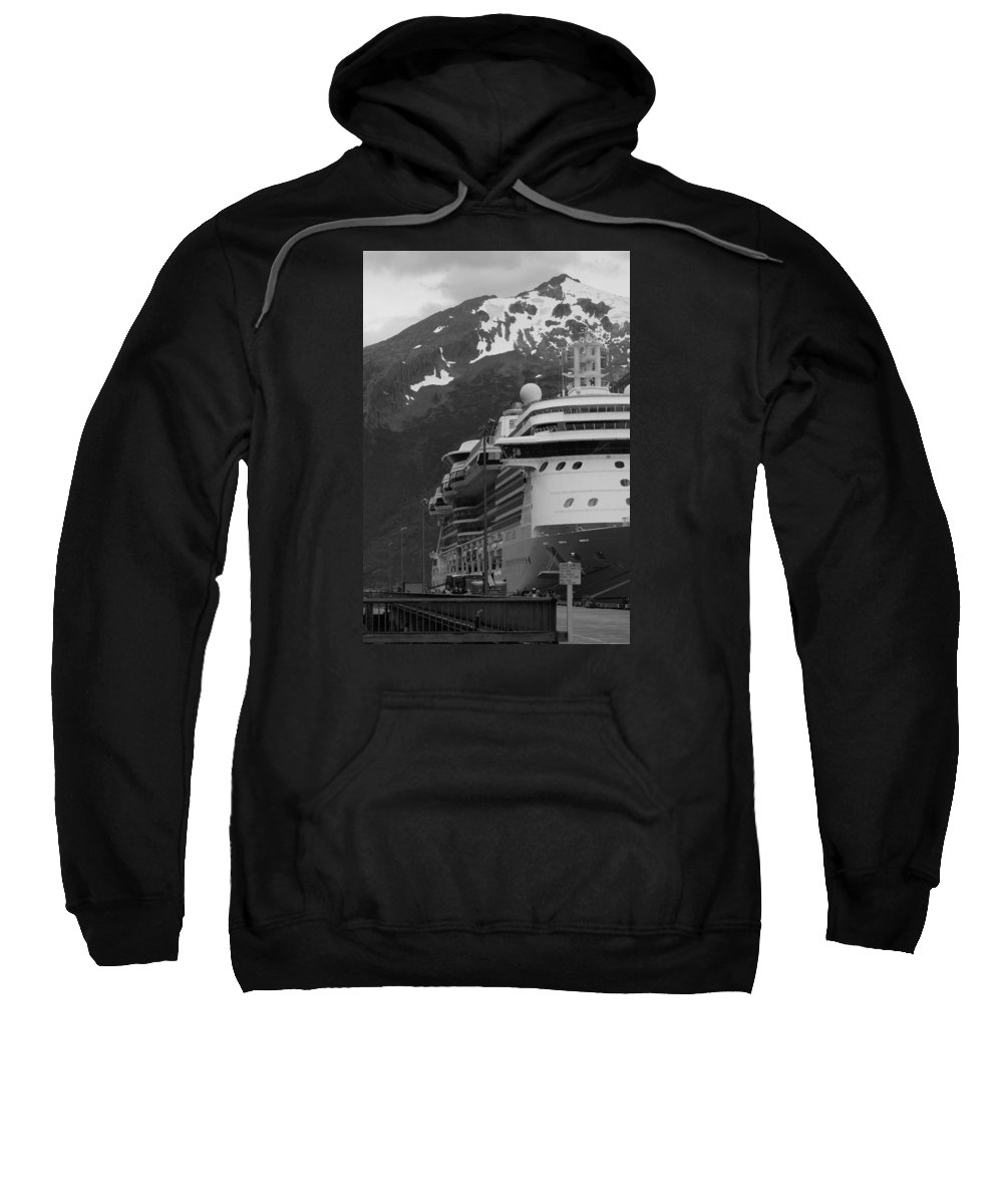 Skagway Sweatshirt featuring the photograph Dockside In Skagway by Maria Keady