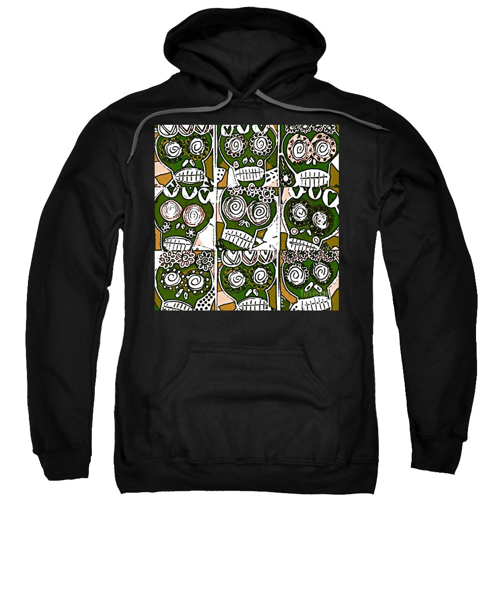Sweatshirt featuring the mixed media Dod Art 1239 by Sandra Silberzweig